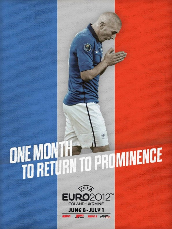 France Euro 2012 Poster e1339056250705 Euro 2012 Posters For All 16 Nations