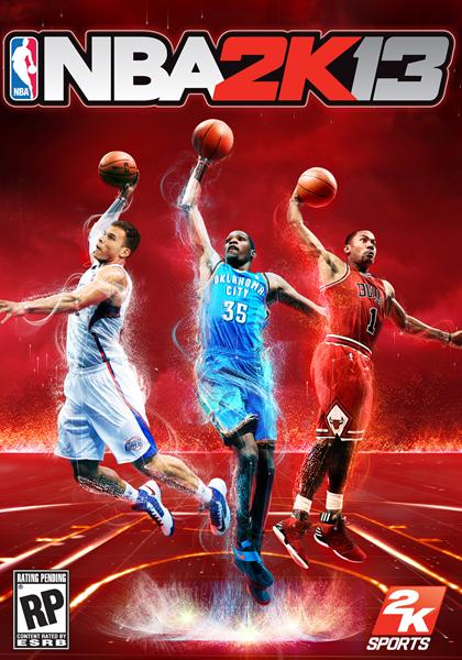 NBA 2k13 Kevin Durant, Derrick Rose and Blake Griffin on NBA 2K13 Cover