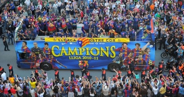 Barcelona La Liga Champions e1345215759998 Who Will win the Title in England, Italy, Spain and Germany?