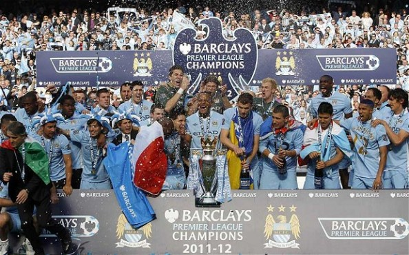 Manchester City champions e1345215082265 Who Will win the Title in England, Italy, Spain and Germany?