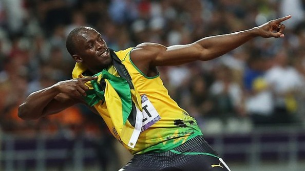 Usain Bolt Gold e1344616059745 Usain Bolt   Greater Athlete than Carl Lewis