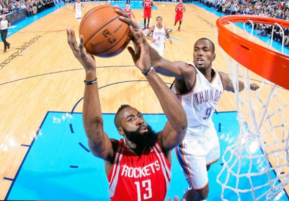 Ibaka Harden e1354190859285 Oklahoma City Thunder   Kevin Durant Ruins the James Harden Return
