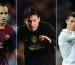Iniesta Messi Ronaldo