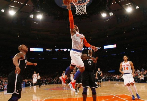 Carmelo e1356007356689 New York Knicks   Carmelo Anthony Loves Playing Against the Nets
