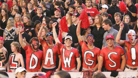 Dawgs fans e1355999979978 10 Most Valuable College Football Teams