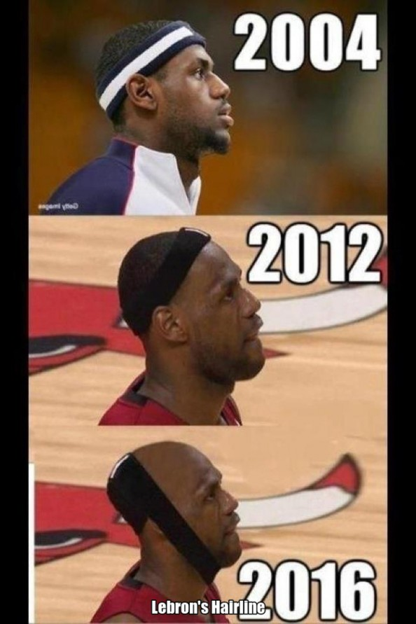 LeBron James Hairline e1355327985327 Best Sports Memes of 2012