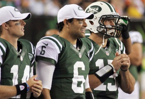 McElroy Sanchez Tebow e1354793039871 New York Jets   What Will it Take to Bench Mark Sanchez