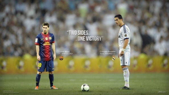 Messi vs Ronaldo e1355355198848 Messi vs Ronaldo   Until One of Them Starts Slowing Down