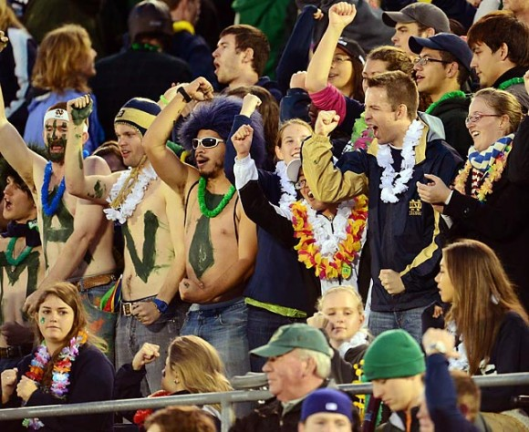 Notre Dame fans e1356000325107 10 Most Valuable College Football Teams