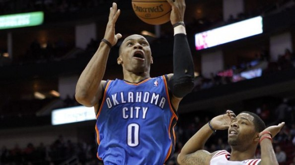 Russell Westbrook3 e1356873031205 Oklahoma City Thunder   Kevin Durant & Russell Westbrook Love Playing James Harden