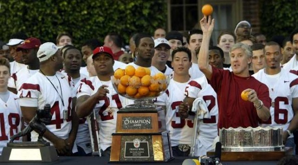 USC 2005 Orange Bowl e1354624468581 The History of the BCS Bowls