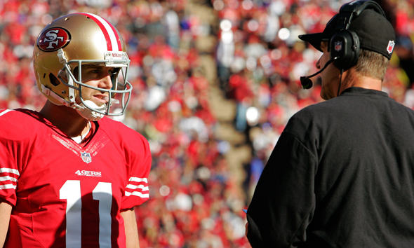 Alex Smith Jim Harbaugh NFL Trades   Alex Smith Wants to be Released
