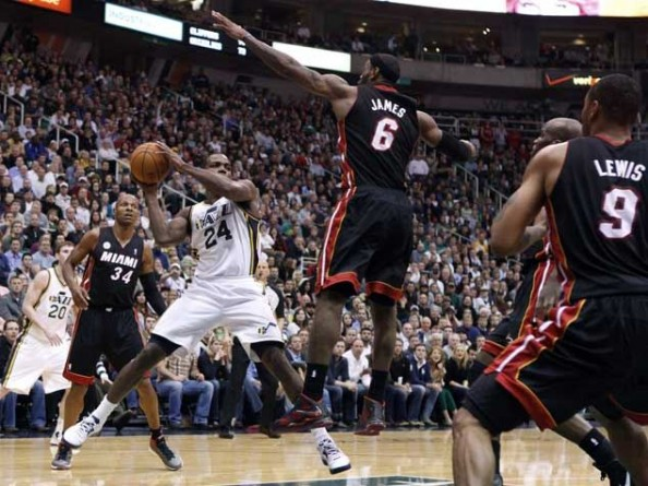 Heat Jazz e1358258443788 Utah Jazz   Dont Care About LeBron James Milestones