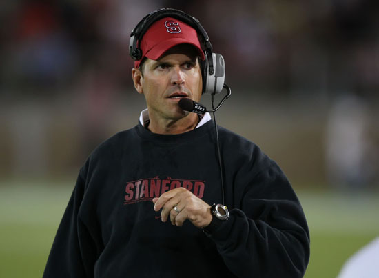 jim harbaugh csmphoto136082 sport ncaa football College Football Coaching Records of NFL Head Coaches