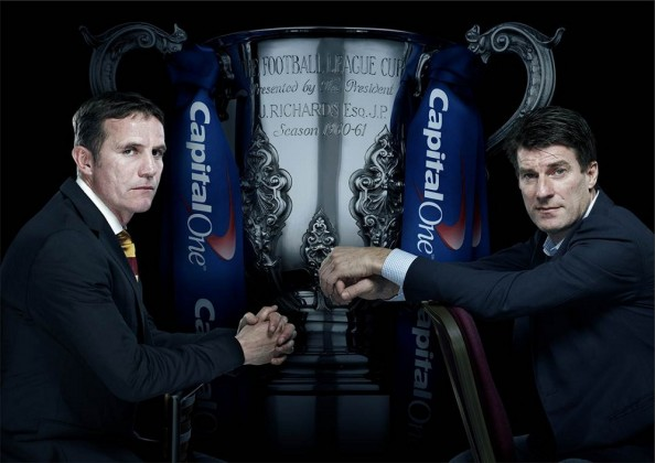 Parkinson vs Laudrup e1361698027679 League Cup Final   Bradford vs Swansea Predictions