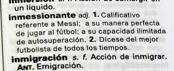 inmessionante Lionel Messi, Now Also in the Spanish Dictionary