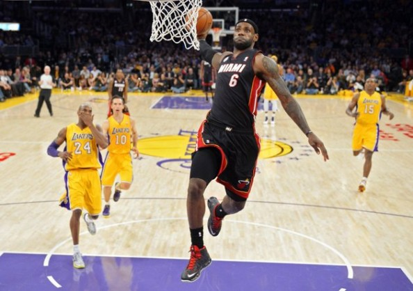 LeBron James Dunk e1363011844401 NBA Players With the Most Dunks in 2012 2013 Season