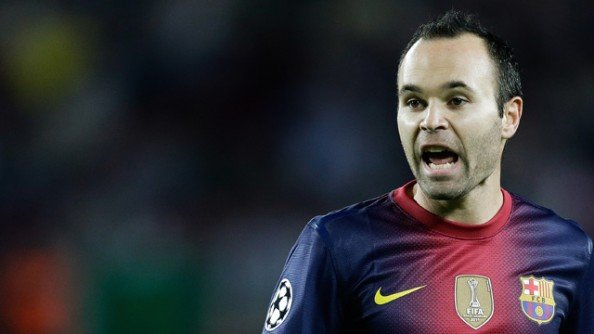 Andres Iniesta of FC Barcelona during the UEFA Champions League