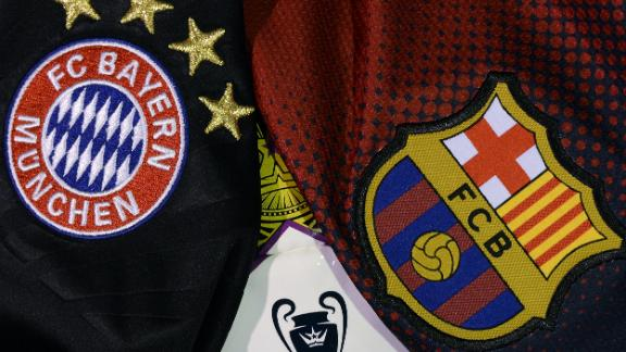 Bayern Barcelona Crests Where to Watch Bayern Munich vs Barcelona Live