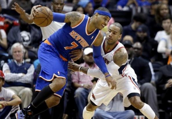Carmelo Anthony vs Hawks