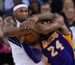 DeMarcus Cousins Wrestles Kobe Bryant
