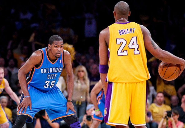 Durant vs Bryant 2012 e1365690412358 Closest Scoring Title Races in NBA History