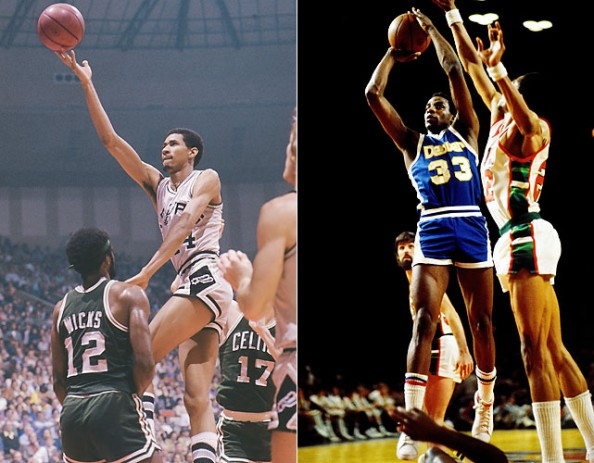 George Gervin vs. David Thompson e1365691857515 Closest Scoring Title Races in NBA History