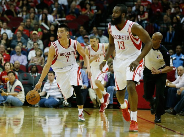 Jeremy Lin James Harden1 e1366477590368 Houston Rockets   Jeremy Lin Isnt in a Competition With James Harden