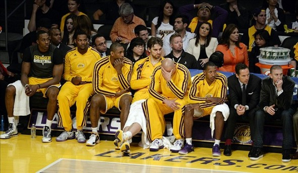 Lakers Bench depression