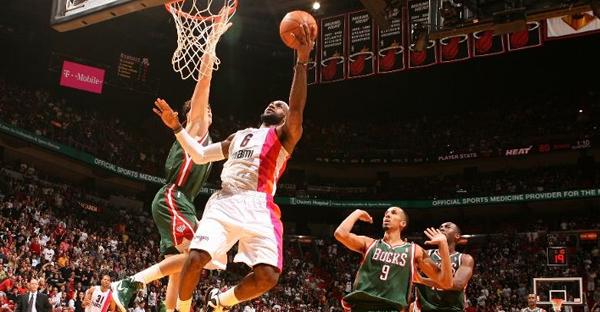 LeBron James, Heat vs Bucks