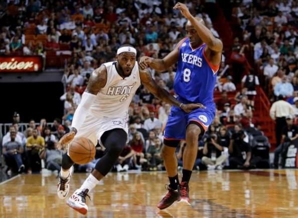 LeBron James vs 76ers