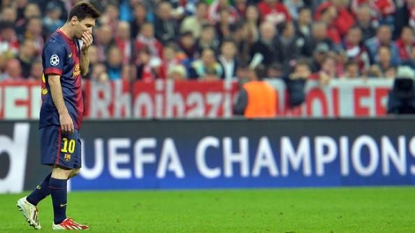Lionel Messi sad