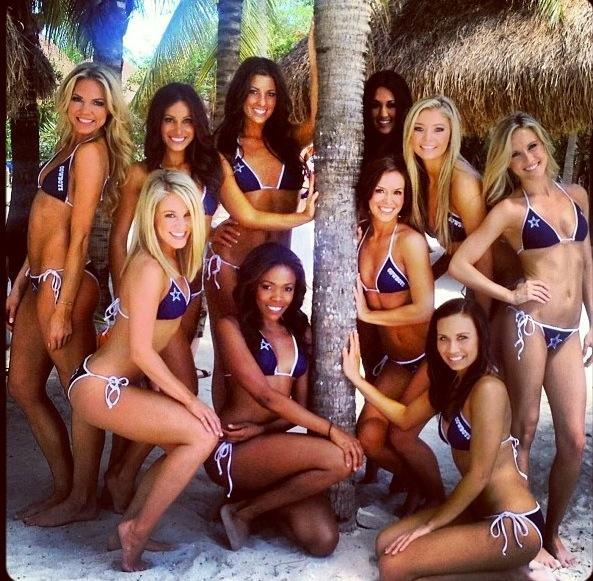 RhQqCFM Dallas Cowboys Cheerleaders in Swimsuit Calendar Photoshoot