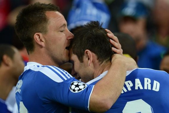 Terry kissing Lampard