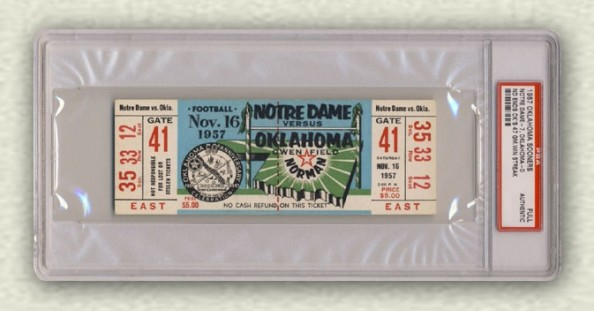 1957 ND vs Oklahoma - ND ends OU 47 game win streak