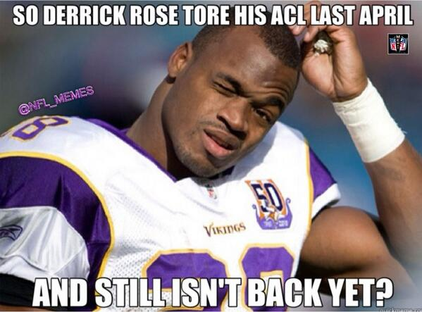 Adrian Peterson Meme on Derrick Rose