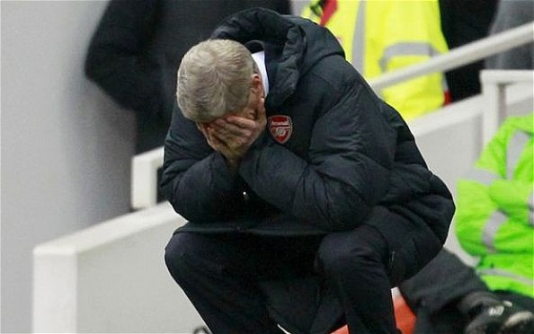 Arsene Wenger after another Arsenal blunder
