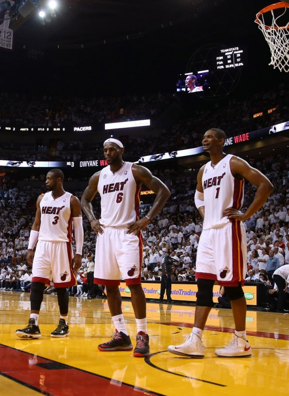 James, Wade and Bosh combined to score 67 points, but they didn't get enough help in the Game 2 loss