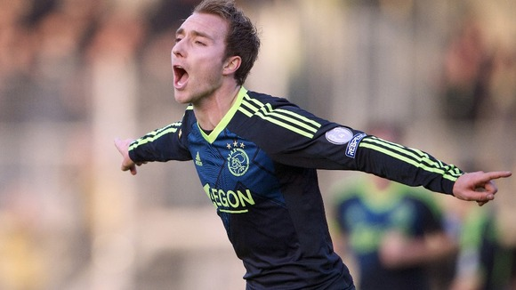 The 21 year old Eriksen, capped 34 times for Denmark, has scored 30 goals in 156 matches for Ajax since 2009.