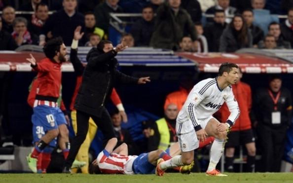 Cristiano Ronaldo after the foul