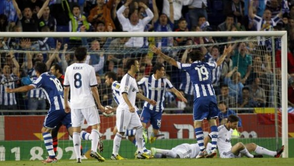 Espanyol goal vs Real Madrid