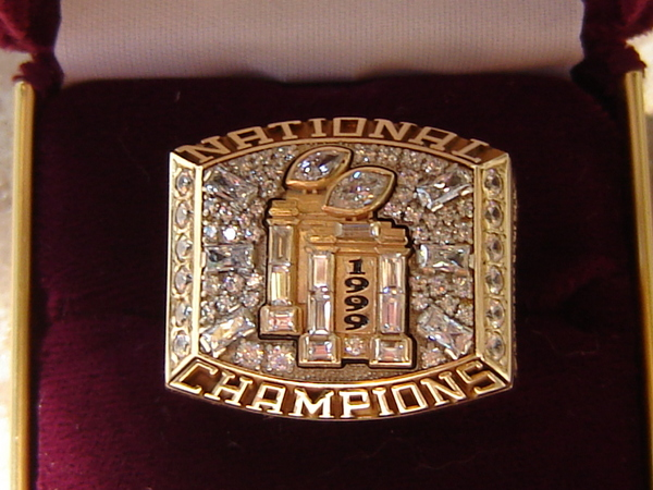 FSU Championship Ring 1999 College Football Records That Will Never be Broken