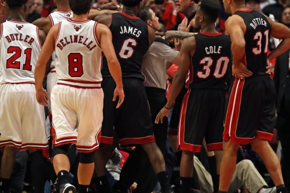 Heat vs Bulls Brawl