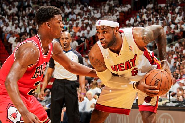 Jimmy Butler Defense on LeBron James