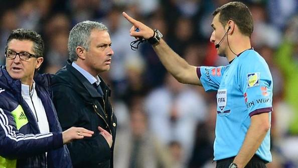 Jose Mourinho Sent Off