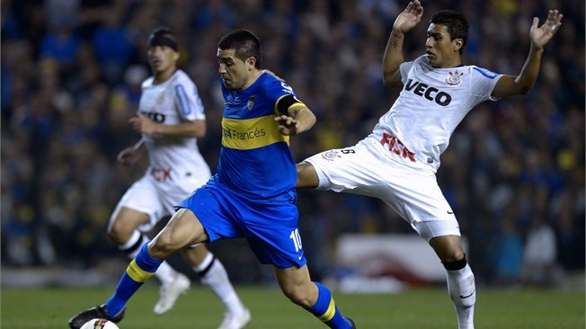 Riquelme's goal for Boca in the 1-1 draw with Corinthians was his first for the club since his return after a short hiatus