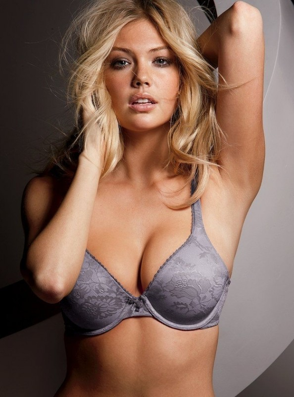 Kate Upton Grey Bra
