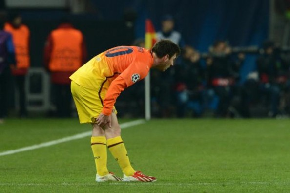 Lionel Messi has been playing with an injured right knee since the quarterfinals against PSG