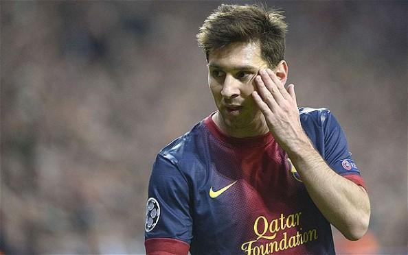 Lionel Messi has a headache
