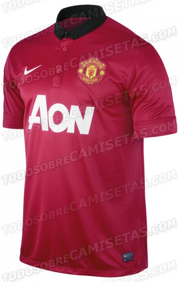 Manchester United 2014 jersey e1368944000660 Manchester United   The New 2013 2014 Kit